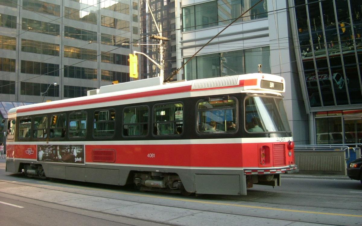 Torontoの路面バス
